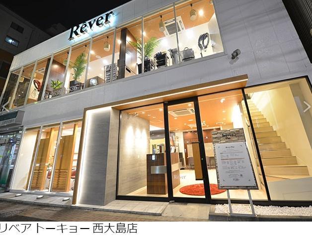 西大島本店。 2階建てで、とても広いです。