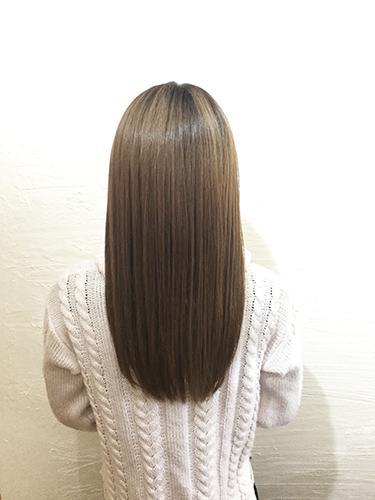 ツヤ髪になる技術に力を入れています