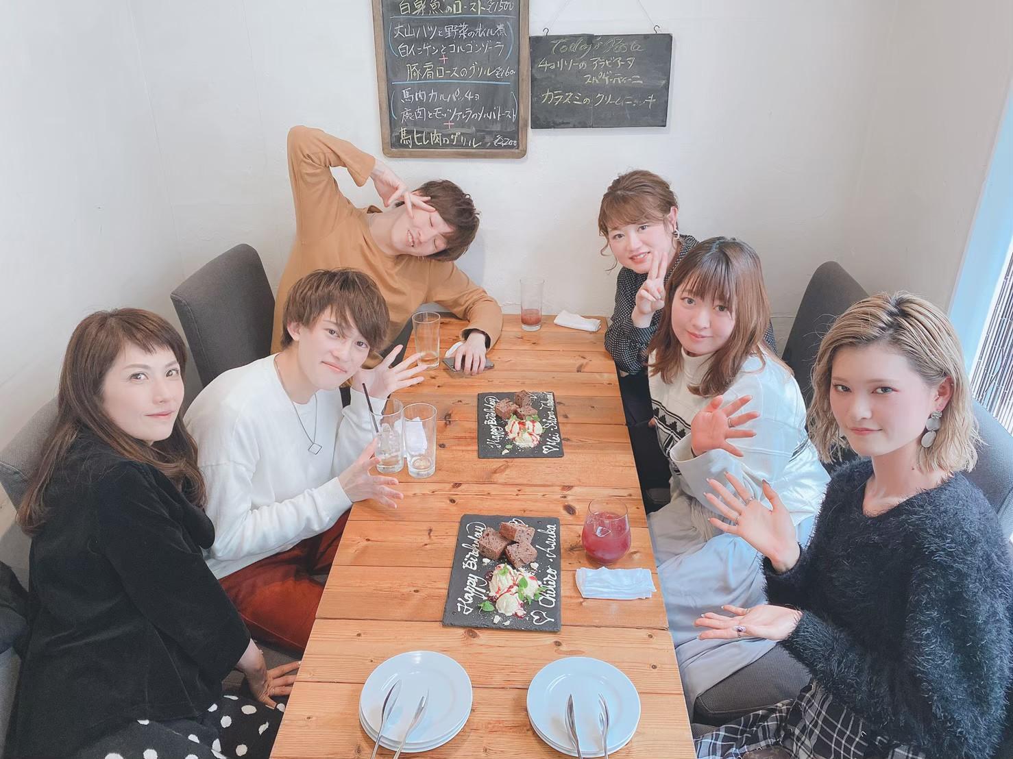 お誕生日月にみんなで食事会!