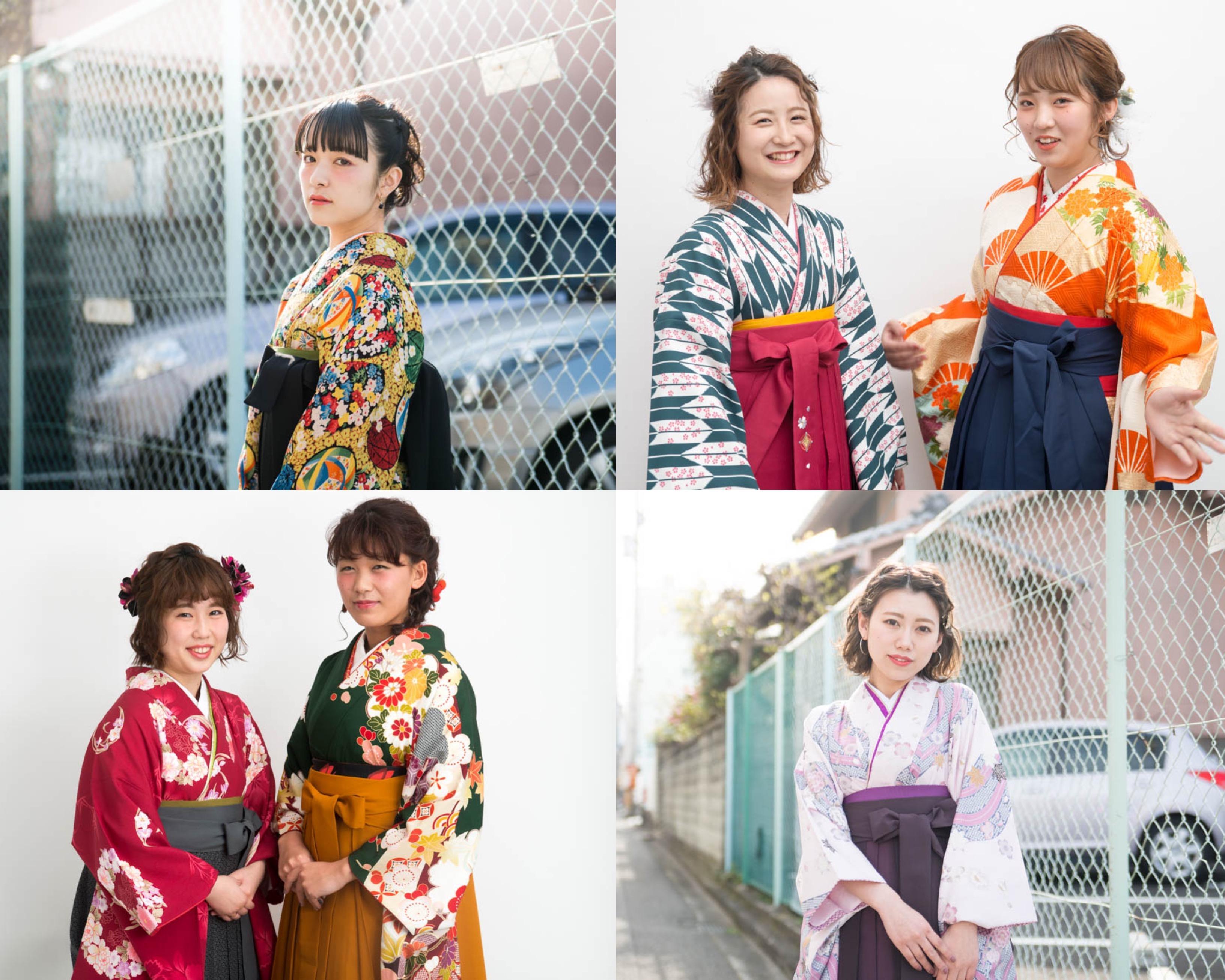卒業式の袴のセットメイク着付けのお仕事です。