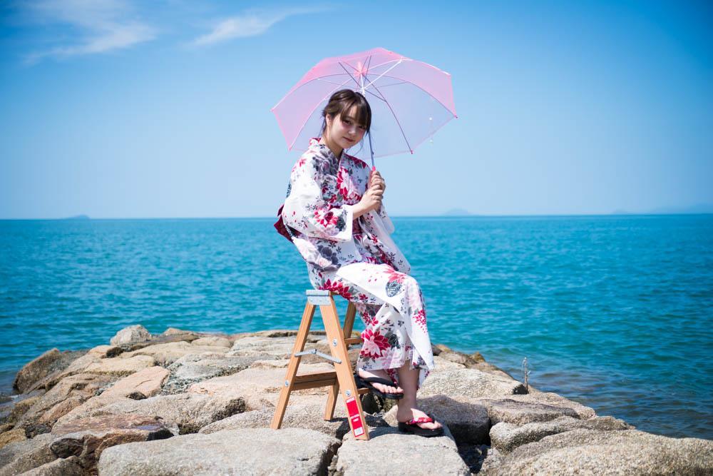 夏の浴衣キャンペーンの時の写真です。この写真でたくさんのお客様が花火大会の日に来てくれました。