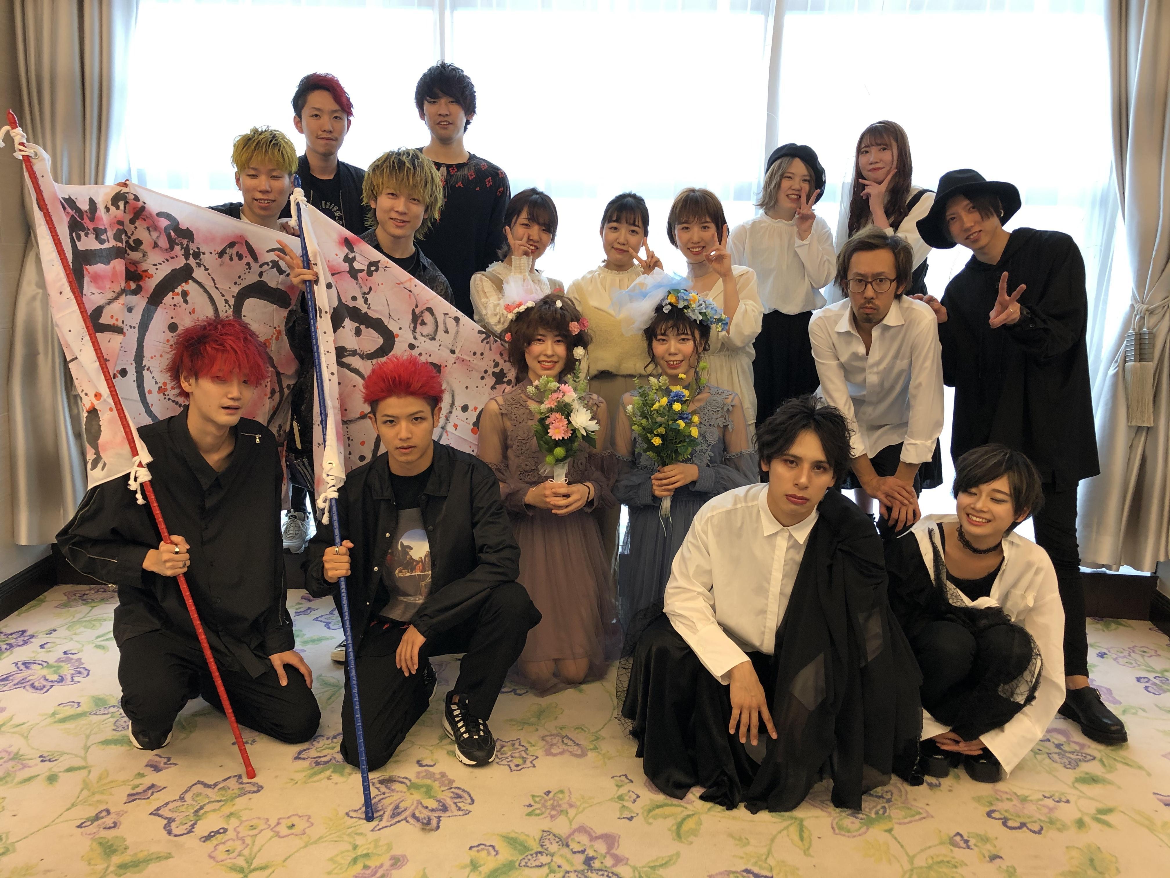 岐阜美容文化祭のヘアショーに参加